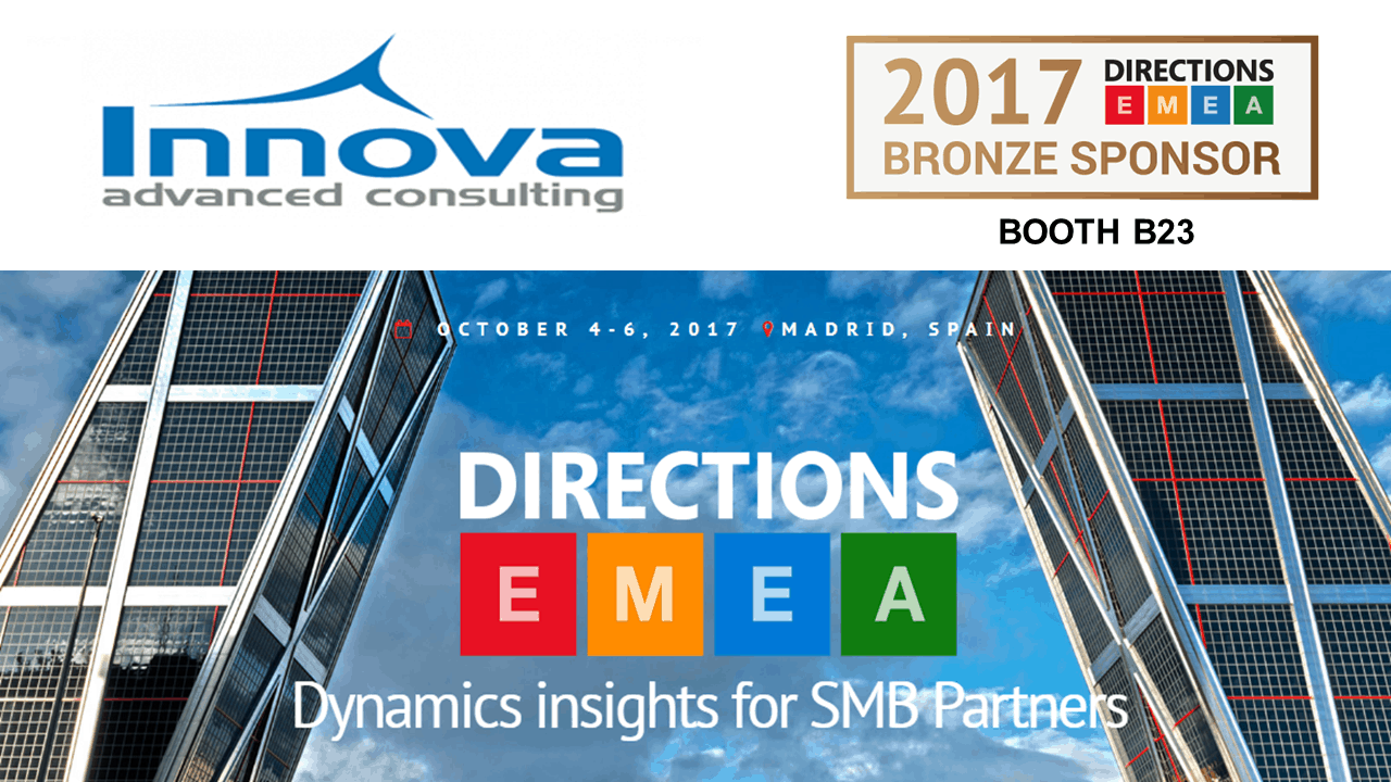 Directions EMEA 2017: Innova Advanced Consulting will attend as a Bronze Sponsor