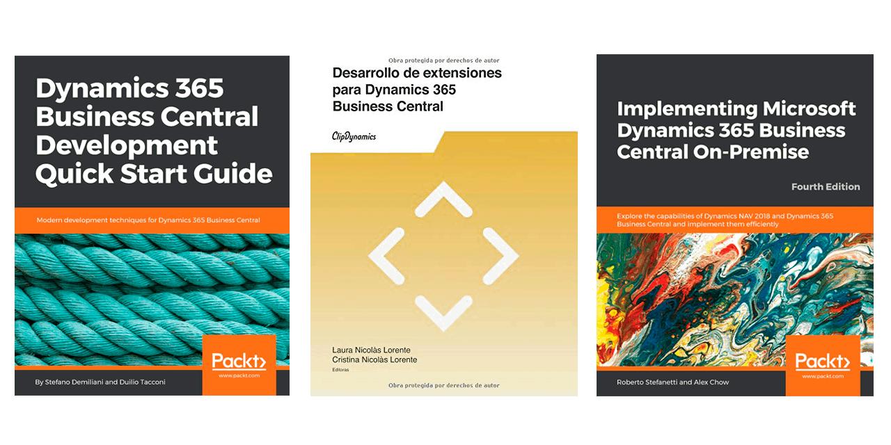 Tres libros para desarrollar con Dynamics 365 Business Central