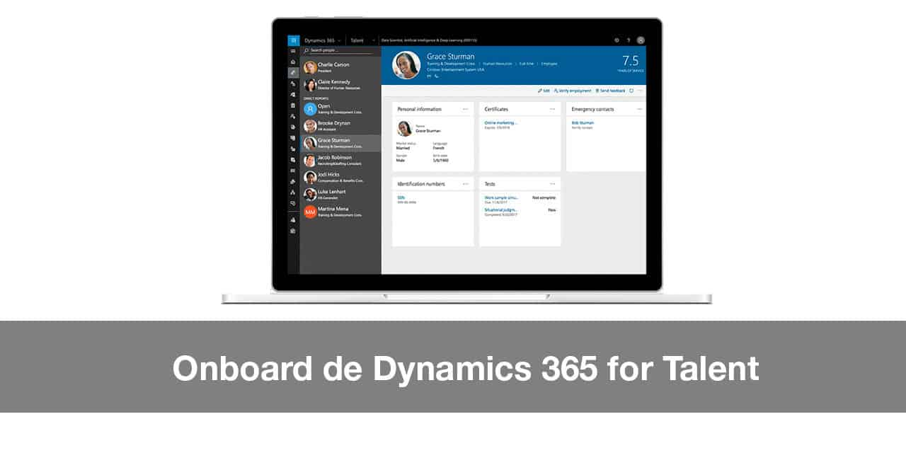 Onboard de Dynamics 365 for Talent