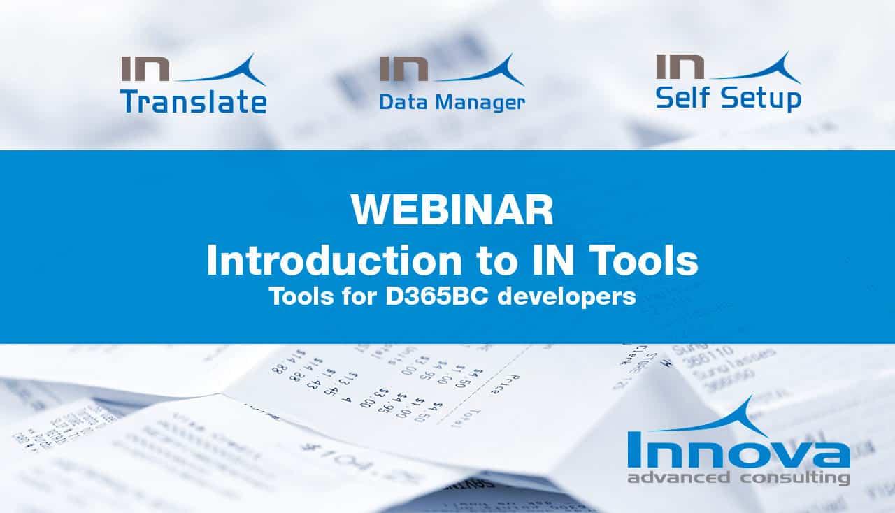 Webinar Introduction to IN Tools (EN) 30th October 2019