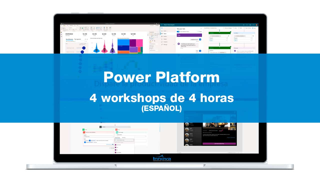Cuatro workshops de Power Platform